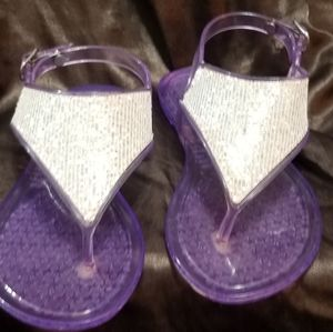 Girls Jelly and Glitter Sandles